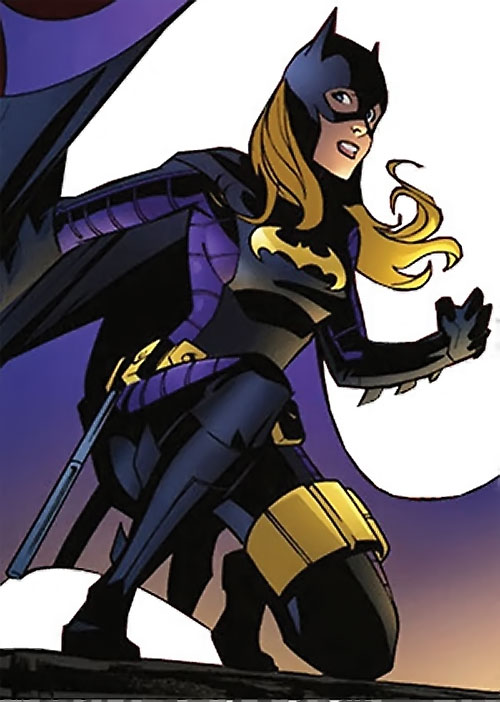 Batgirl (Stephanie Brown) (DC Comics) reacting