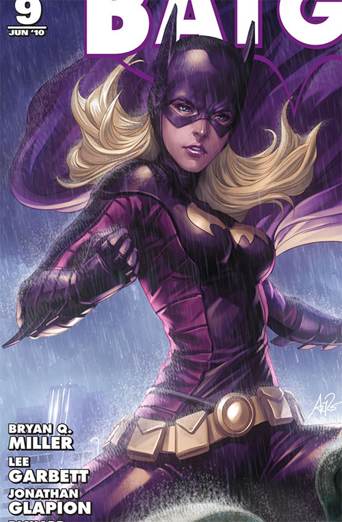 Batgirl (Stephanie Brown) (DC Comics) under the rain Artgerm cover detail