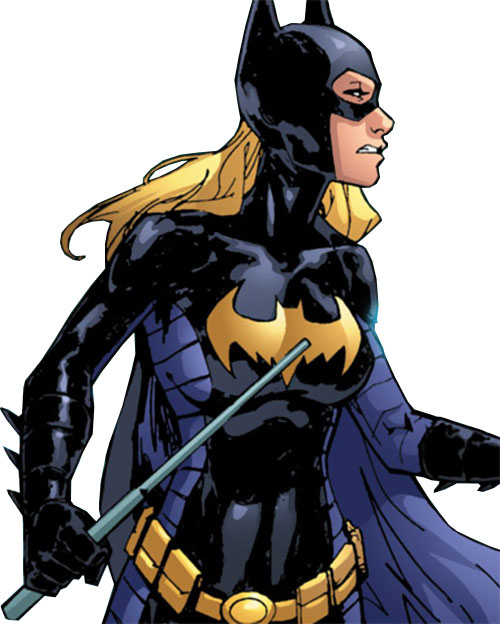 Batgirl (Stephanie Brown) (DC Comics) with a collapsible truncheon