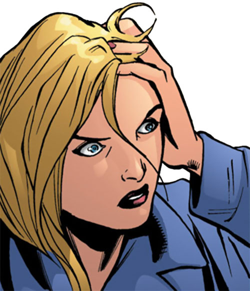 Batgirl (Stephanie Brown) (DC Comics) shocked face closeup