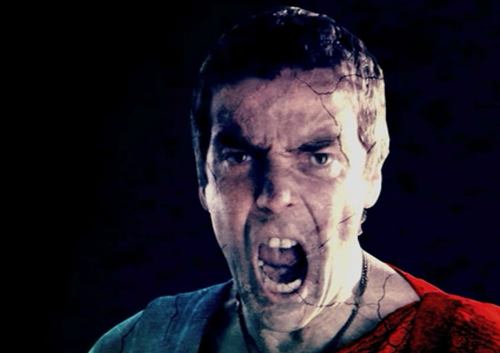 Batiatus screaming in the Spartacus opening credits