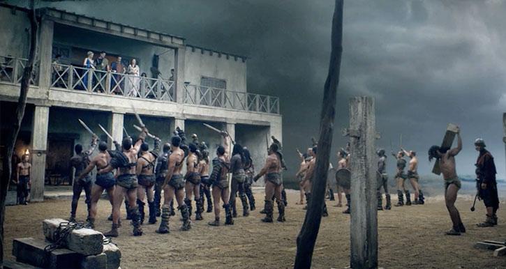 Batiatus' gladiator school in Spartacus