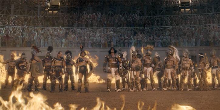 Batiatus' gladiator school in the arena