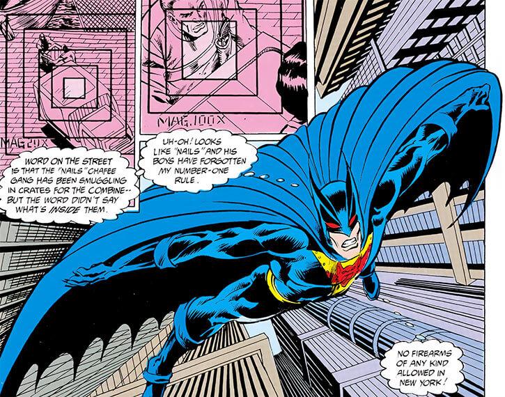 Batman 2050 (Jonah hex) (DC Comics) diving from skyscrapers
