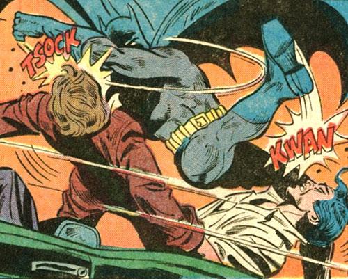 Batman Jr. (DC Comics Super-Sons) beating thugs