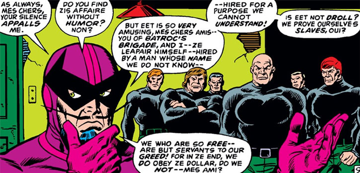 Batroc and a version of his Brigade
