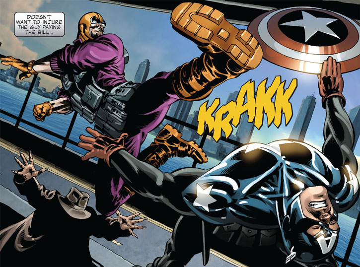 Batroc rushes in to engage the Winter Soldier
