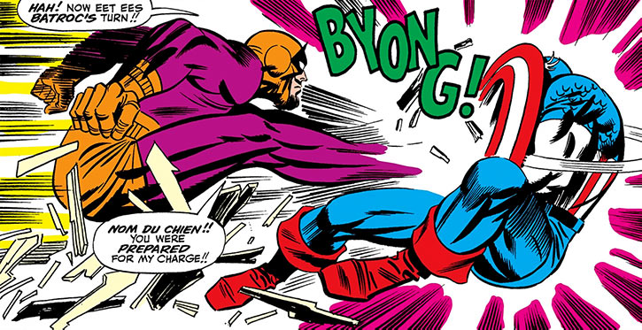 Early battle between Batroc and Captain America