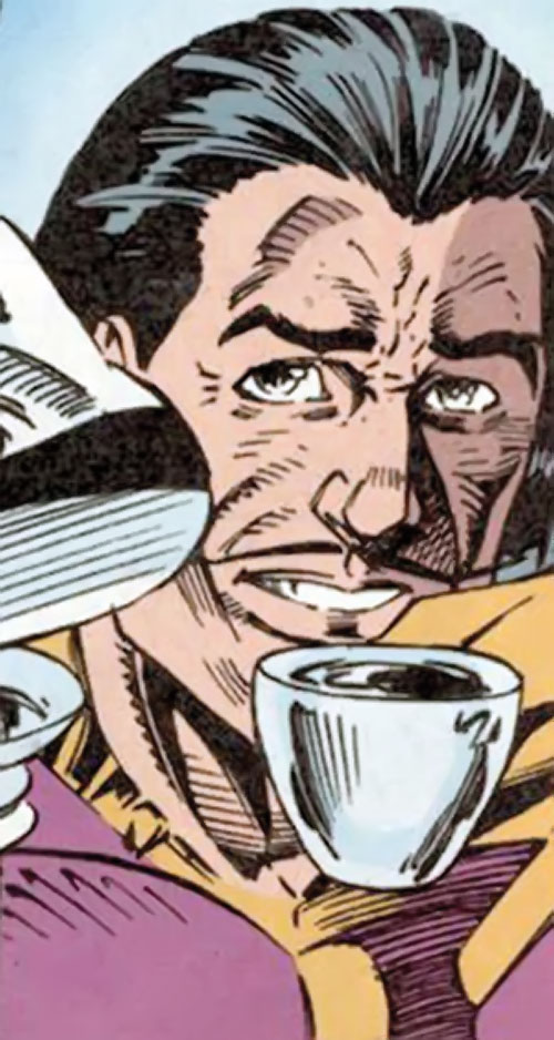 Batroc having tea