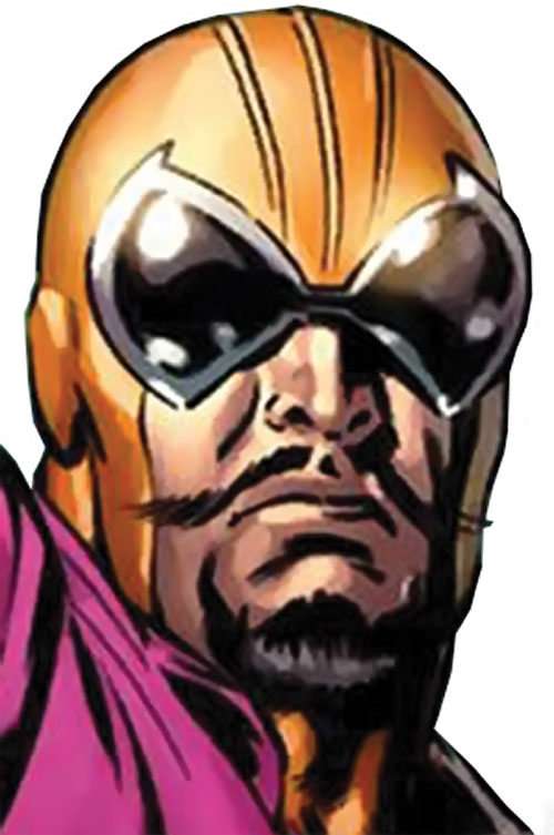 Batroc mask and face closeup