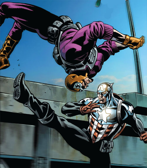 Batroc does a backflip dodge