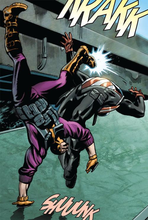 Batroc vs. Captain America (Bucky Barnes)