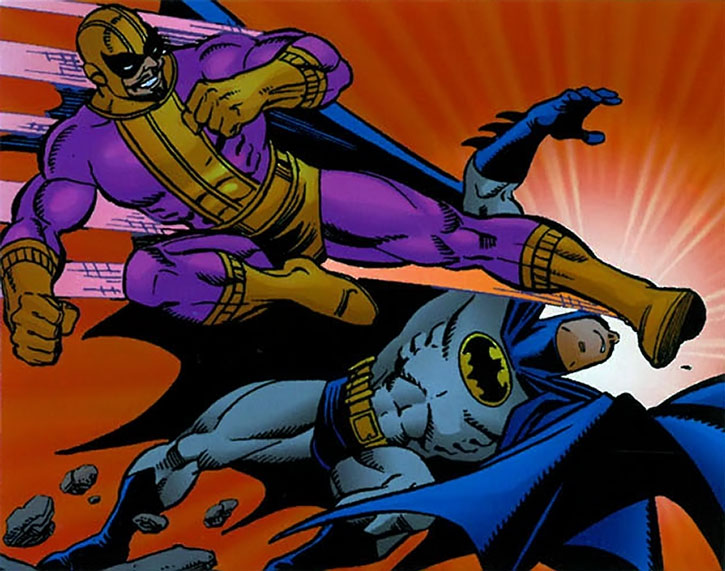 Batroc kicks Batman