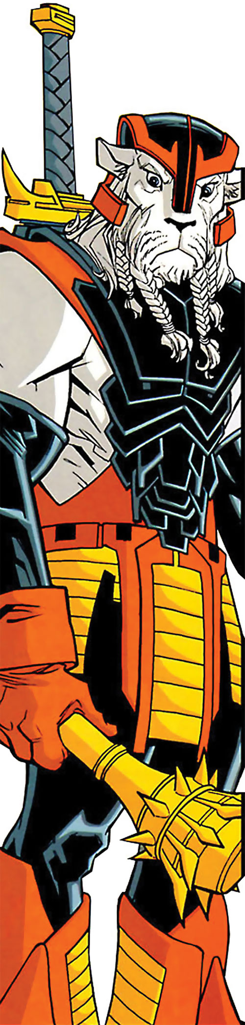 Battle Beast (Invincible Comics) with helmet and mace