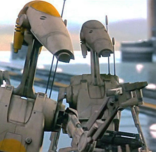Battle Droid Federation face closeup (Star Wars episode 1)
