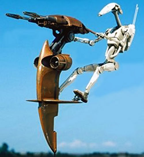 Battle Droid Federation light attack flyer (Star Wars episode 1)