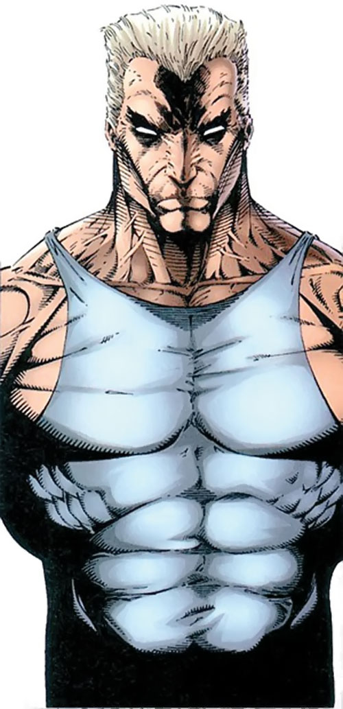 Battlestone (Image Comics) in a wifebeater, over a white background