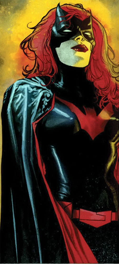 Batwoman (Katherine Kane) (DC Comics modern) backlit in yellow