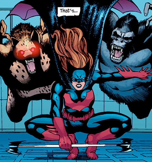 Batwoman (Katherine Kane) (DC Comics modern) vs. 2 animal men