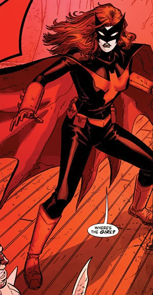 Batwoman (Katherine Kane) (DC Comics modern) in red lighting