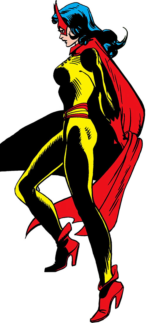 Batwoman of the Silver Age - DC Comics- Yellow and red costume - Side view