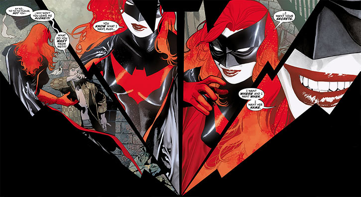 Batwoman (Kate Kane) smiling sequence