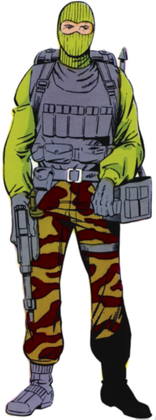 Beach-Head (GI Joe) from the Marvel handbook