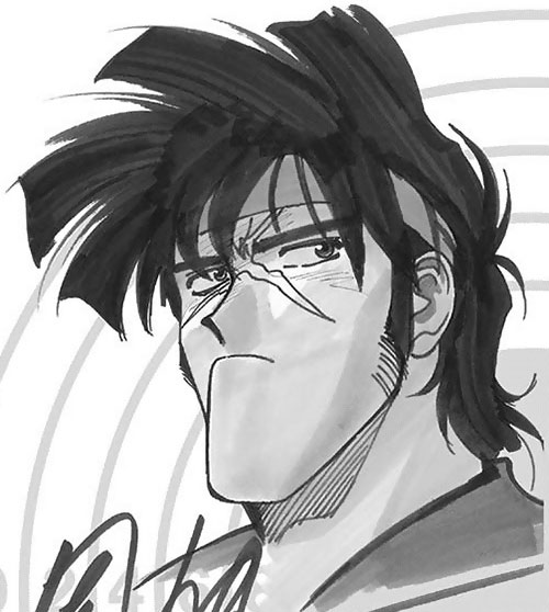 Bean Bandit (Gunsmith Cats manga) B&W sketch portrait