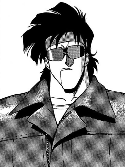 Bean Bandit (Gunsmith Cats manga) headband and sunglasses