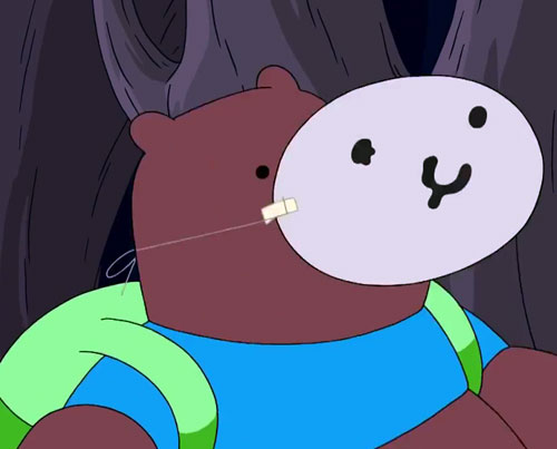 Bear (Adventure Time) wearing his mask