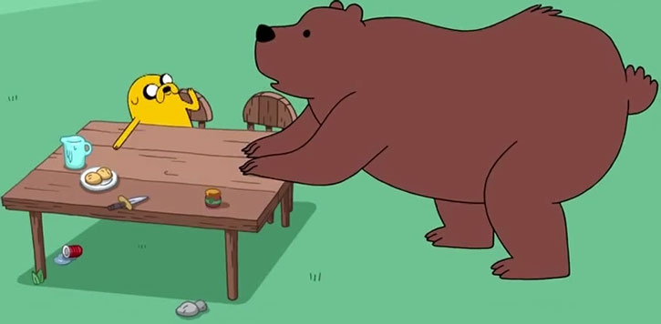The Bear talks with Jake the Dog