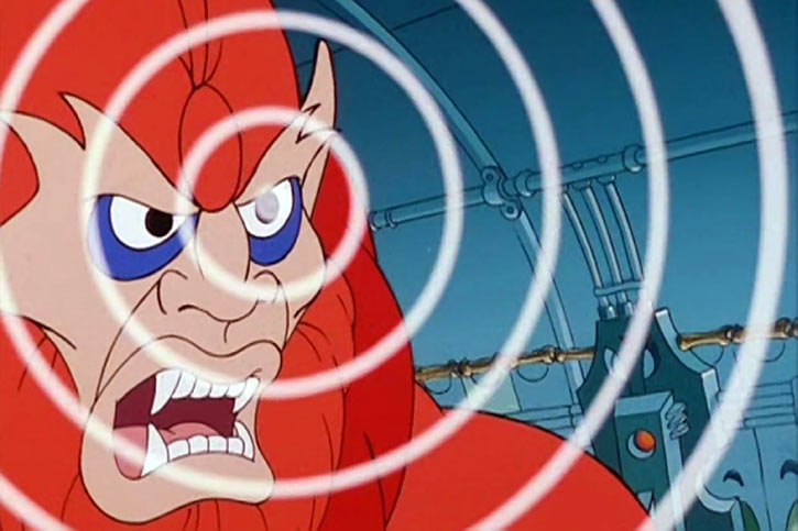 Beast-Man (He-Man and the Masters of the Universe cartoon) using his beast telepathy