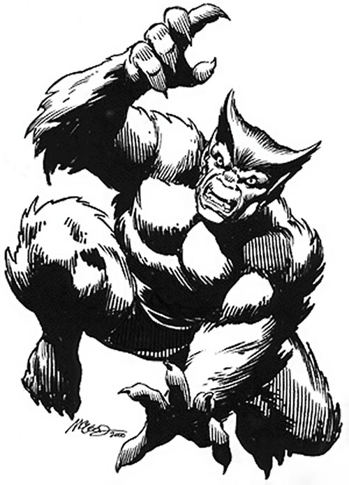 Beast (Marvel Comics) (X-Men) sketch by Bob McLeod