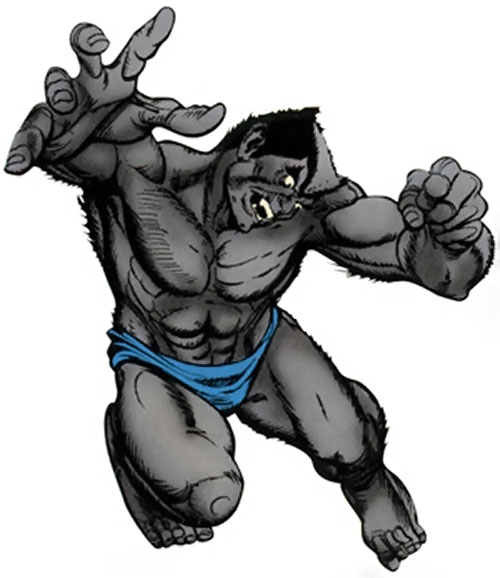 Beast (Marvel Comics) (X-Men) with gray fur