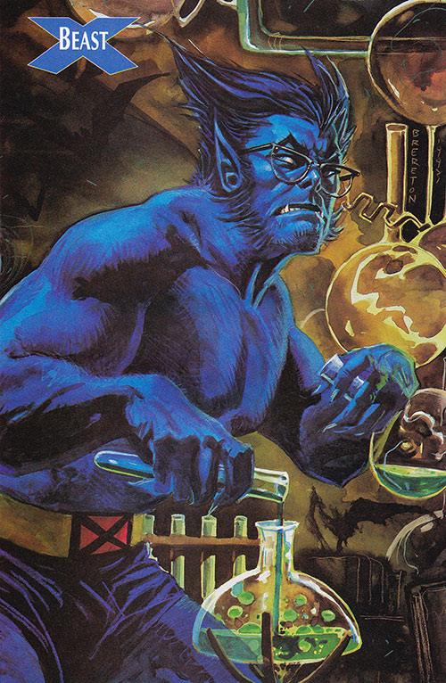 Beast (Marvel Comics) (X-Men) in the lab