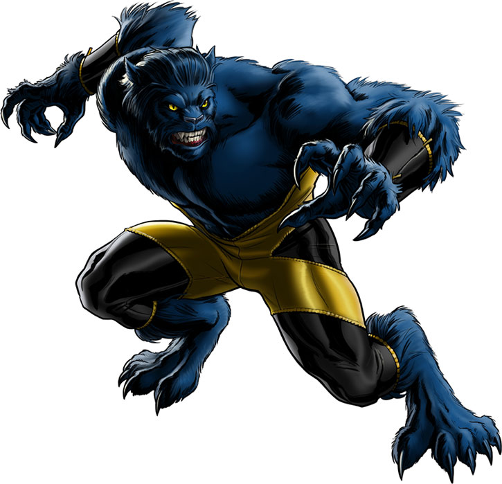 Beast (Hank McCoy) in his furry catlike mutation