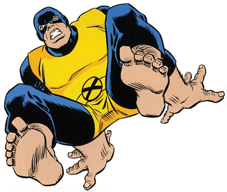 Beast (Hank McCoy) with the original black and gold uniform