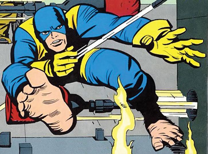 Beast (Hank McCoy) in an early Danger Room