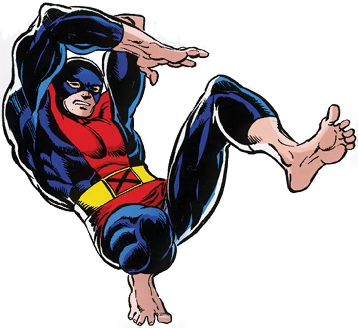 Beast (Hank McCoy) with his early red and navy costume