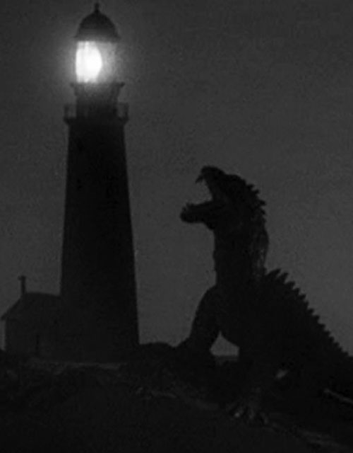 Beast from 20000 fathoms next to the lighthouse