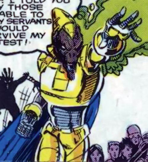 Bedlam the Brain-Blast (Alpha Flight enemy) (Marvel Comics) attacking