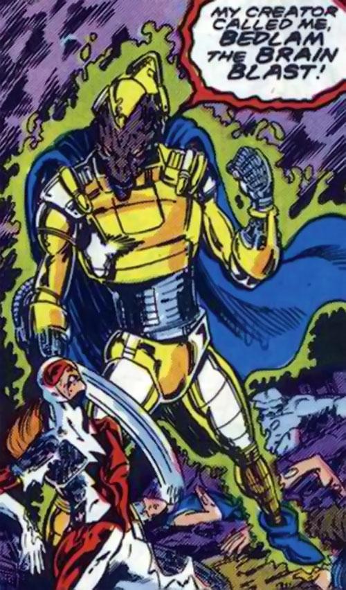 Bedlam the Brain-Blast (Alpha Flight enemy) (Marvel Comics) vs. Heather Hudson
