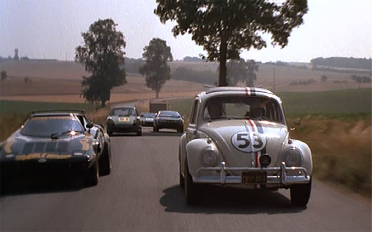 Herbie - Love bug -VW Beetle -Disney movies - Racing countryside