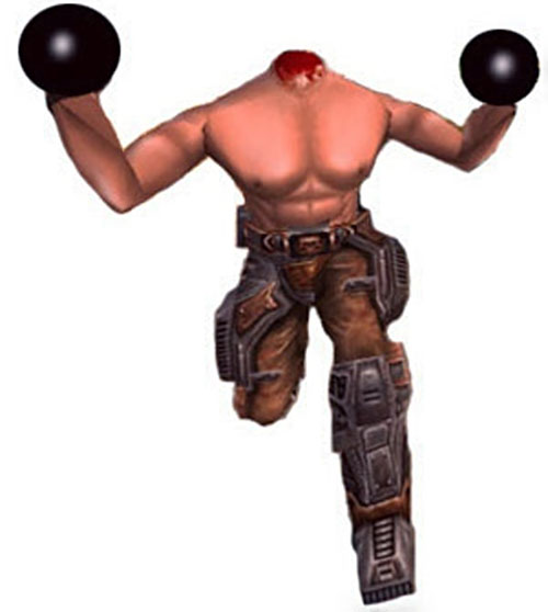 Beheaded kamikaze in the Serious Sam video games, charging