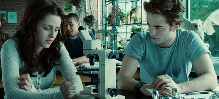 Bella Swan (Kristen Stewart) and Edward