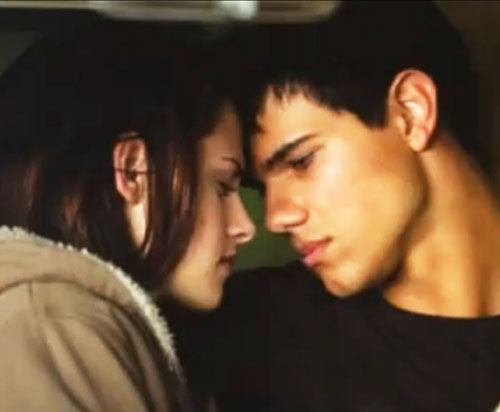 Bella Swan (Kristen Stewart in Twilight) (Early) and Jacob