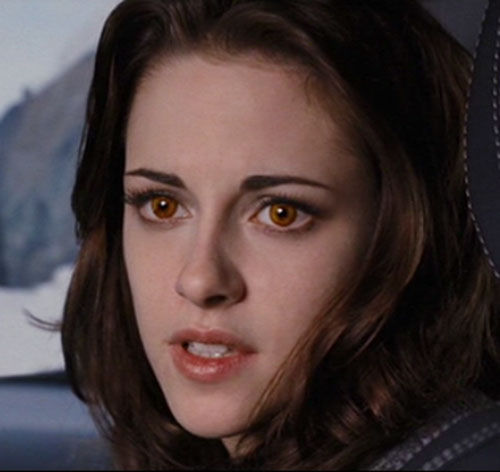 Bella (Kristen Stewart in Twilight) (Later) with amber eyes