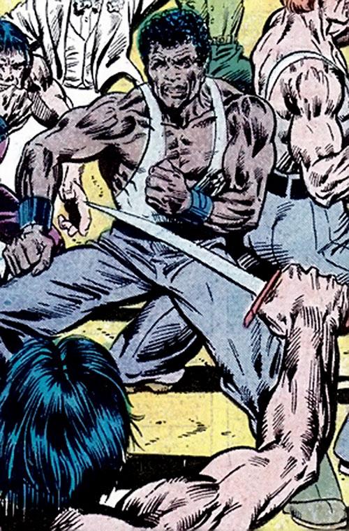 Ben Turner (Richard Dragon ally) (DC Comics) against hired thugs
