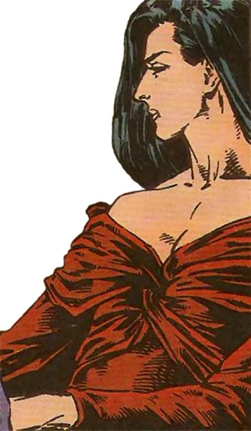 Benazir Kaur (Hellfire Club White Queen) (X-Men enemy) (Marvel Comics) looking regal
