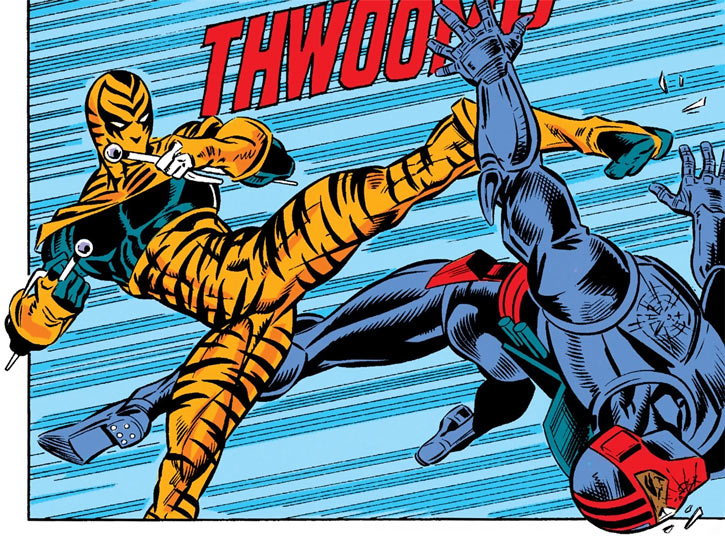 Bengal vs. Night Thrasher in New Warriors comics by Marvel
